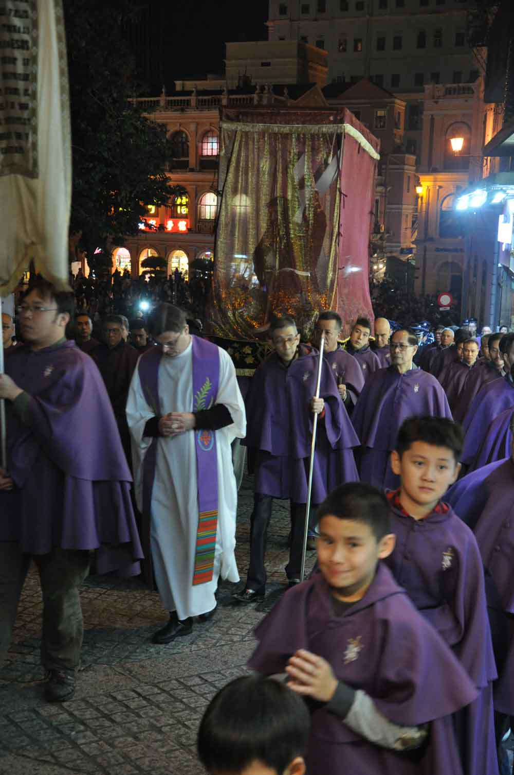 Passion of Our Lord Procession with protective cloak