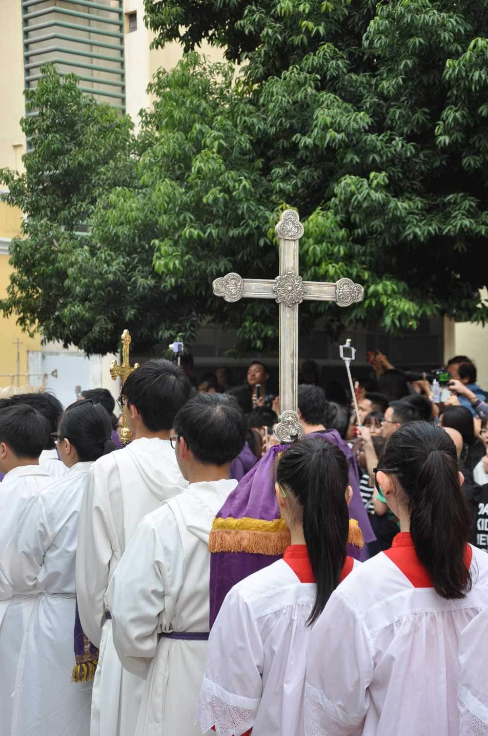 Passion of Our Lord Procession cross in Senado Square