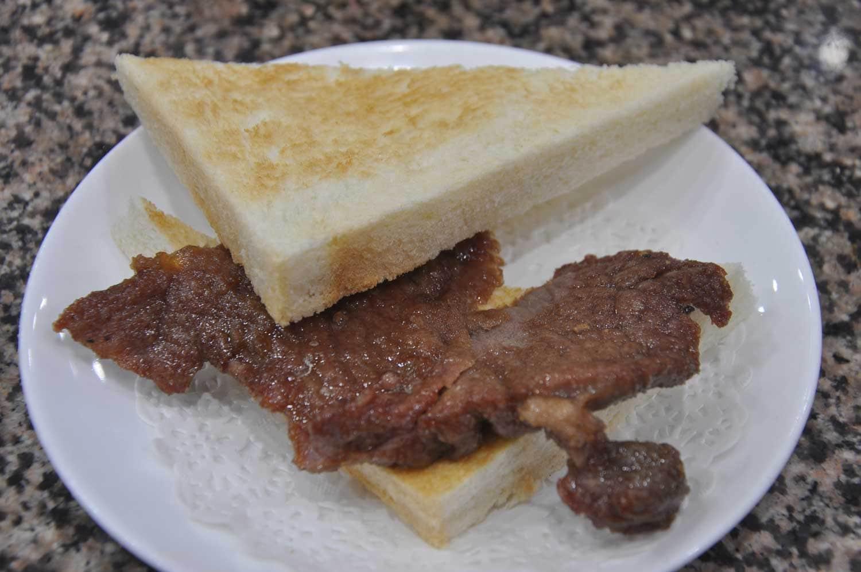 Macau Street Food: Steak Toast
