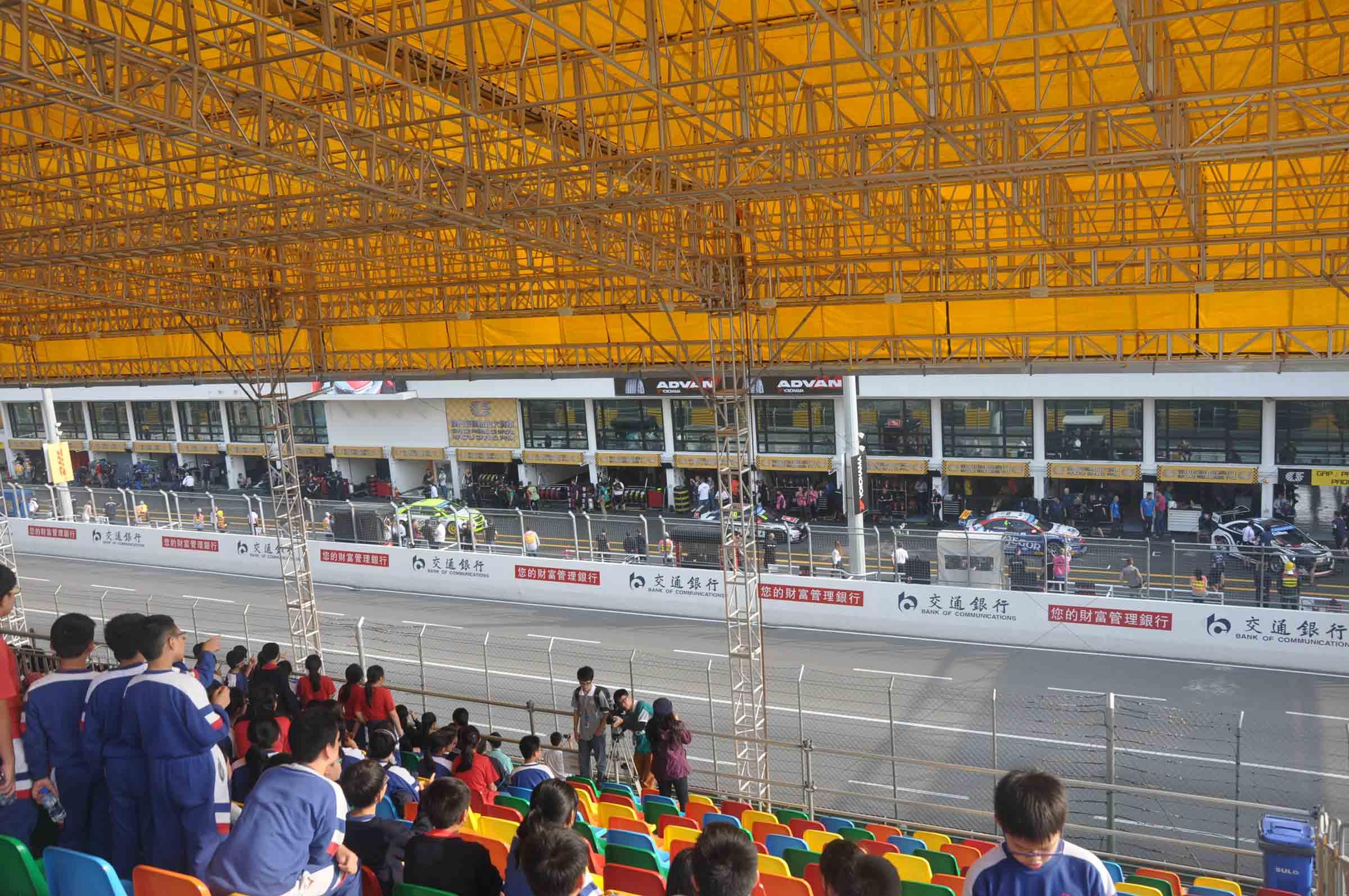 F3 Macau Grand Prix Race View from the Grandstand Seats