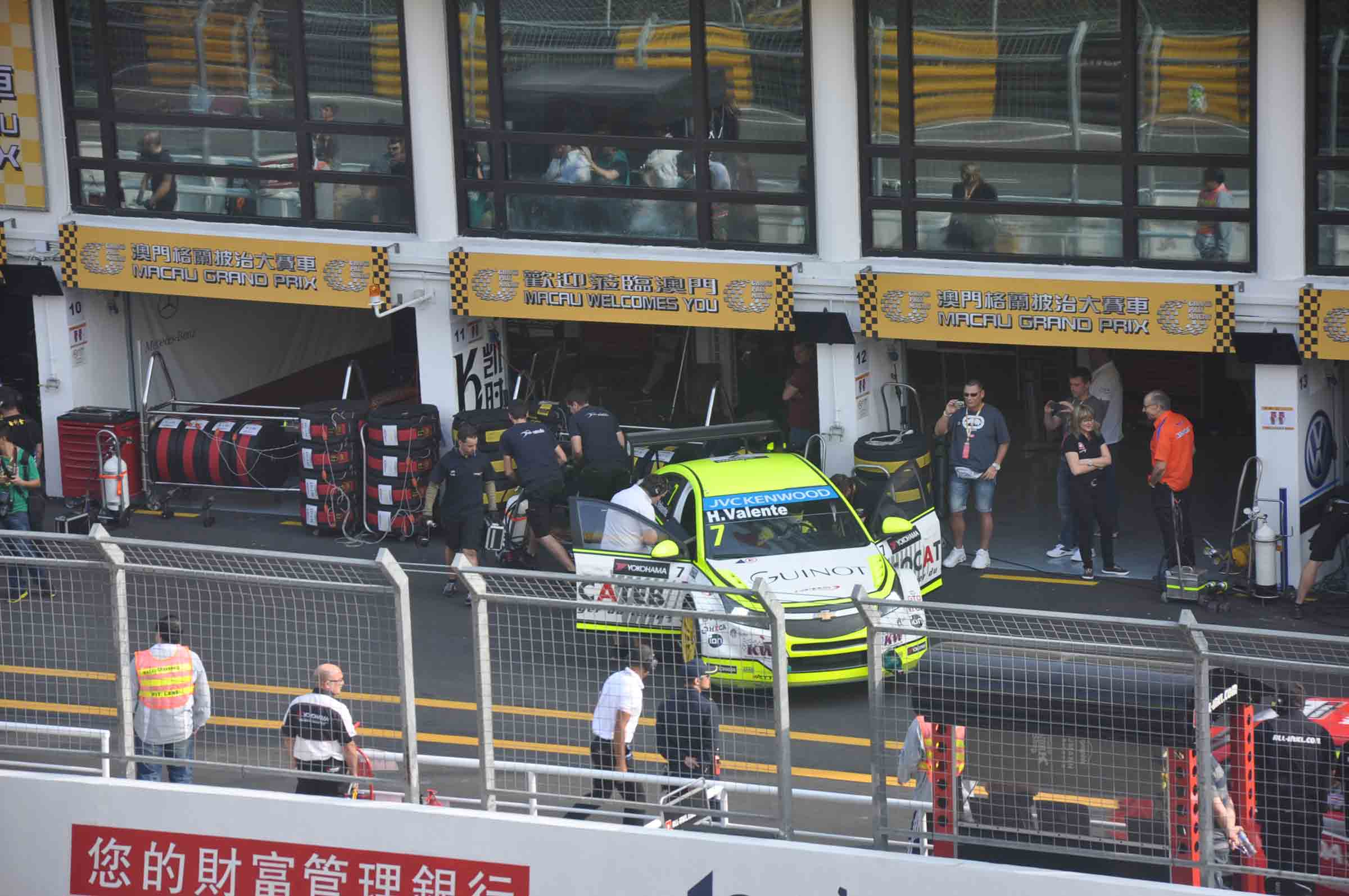 F3 Macau Grand Prix Race View of the pits from the Grandstand