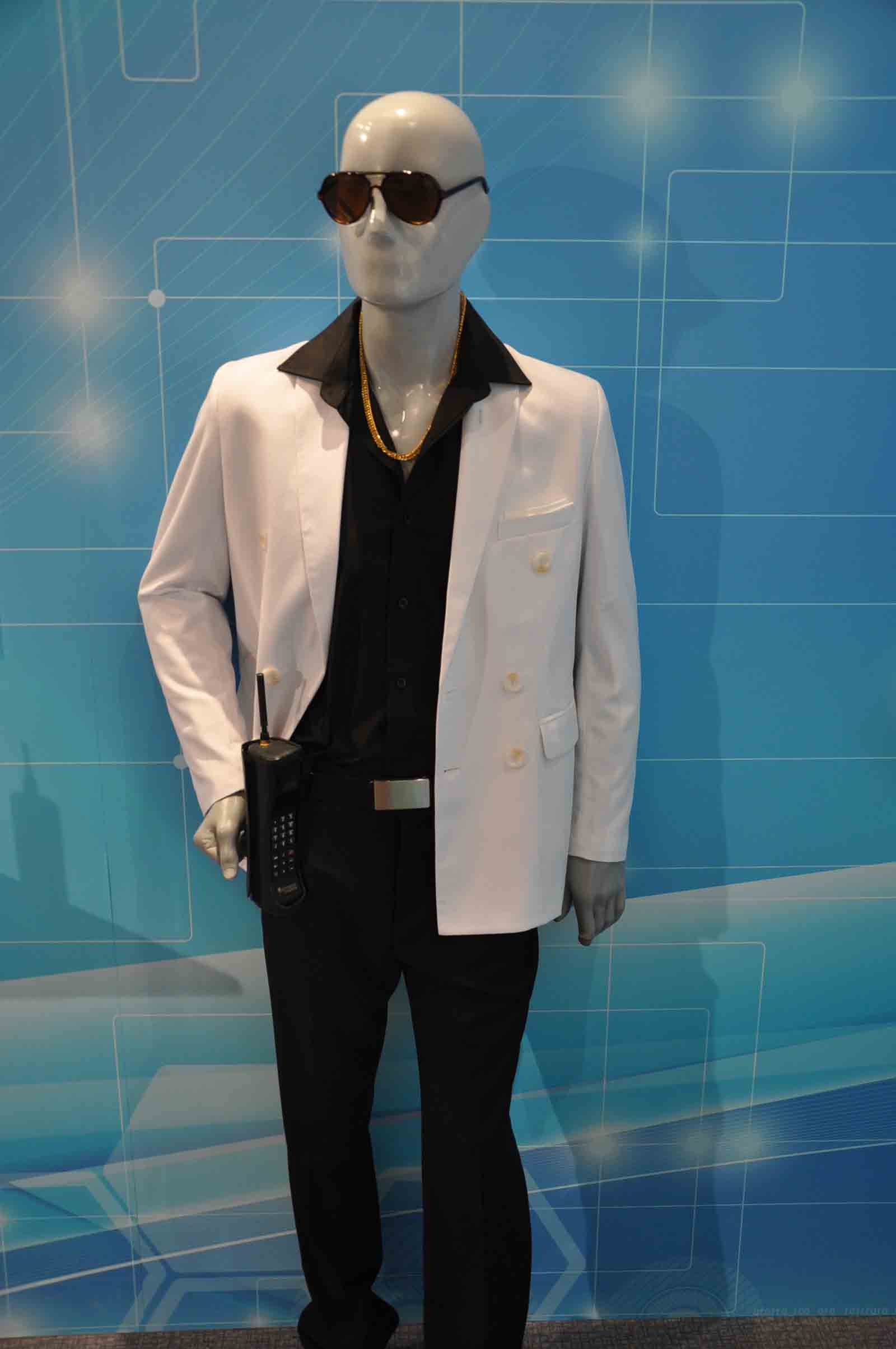 Communications Museum mannequin with mobile phone