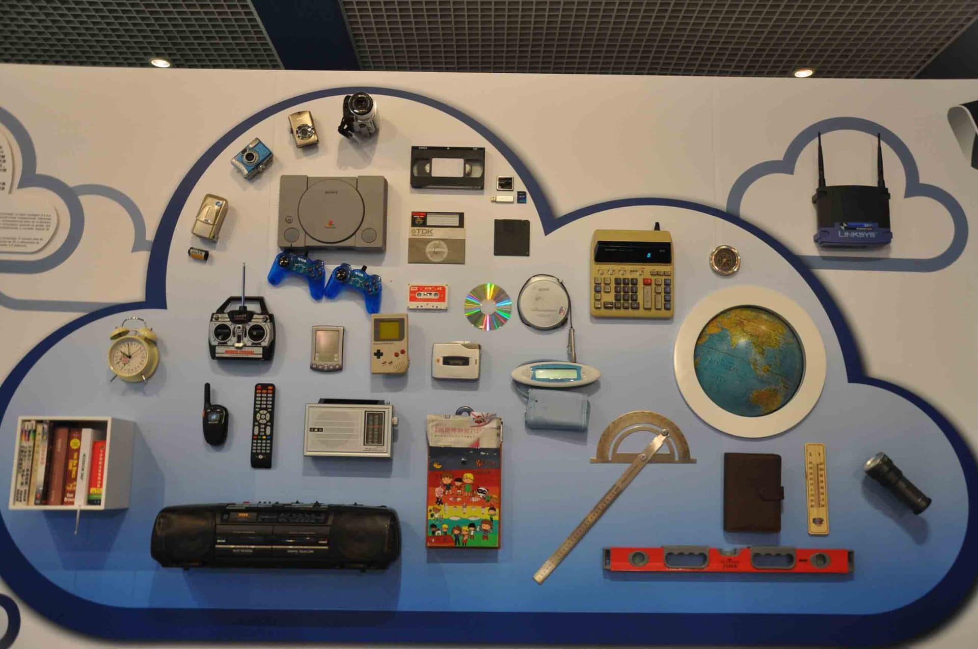 Communications Museum display wall