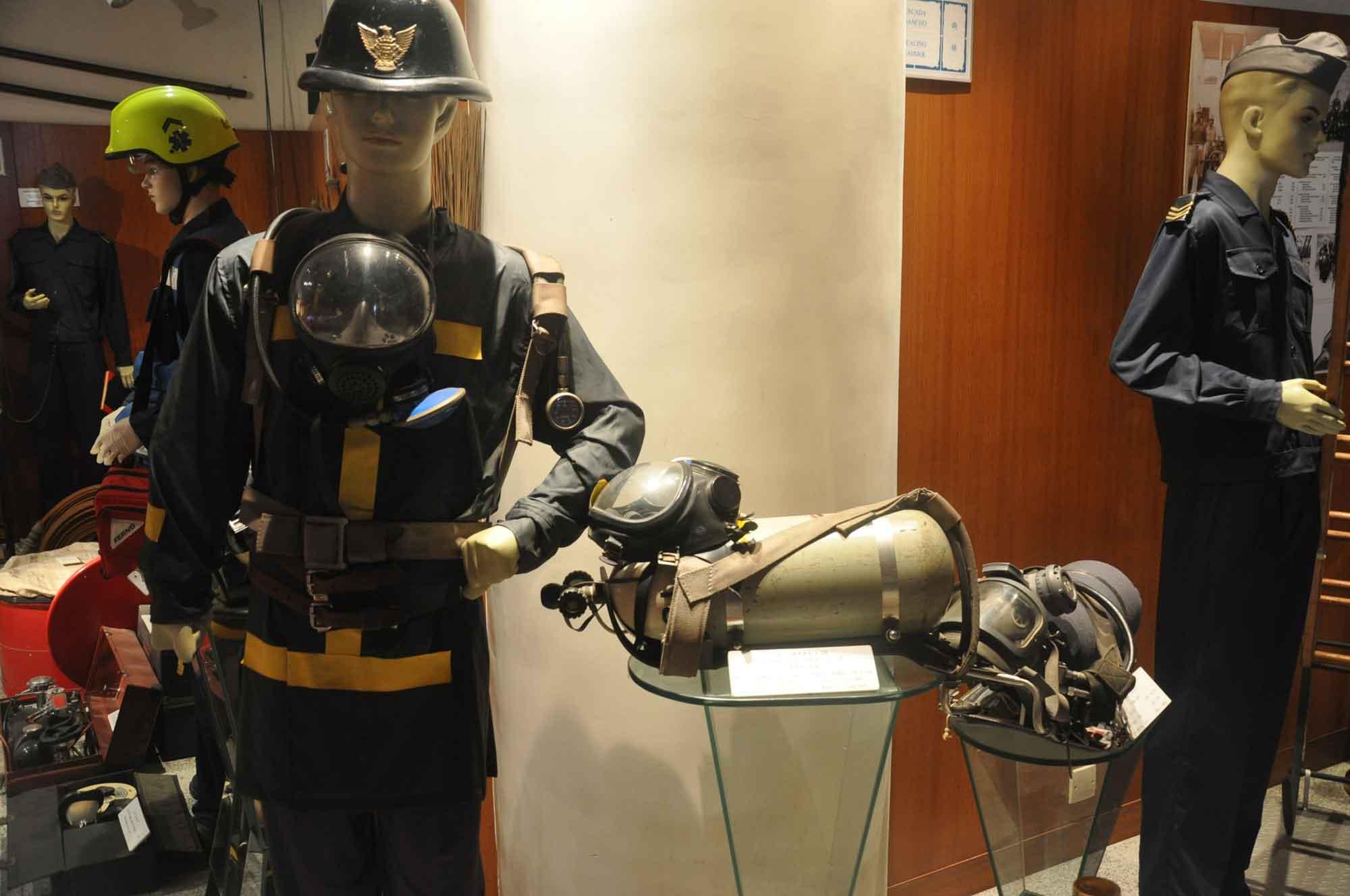 Fire Services Museum fireman gear