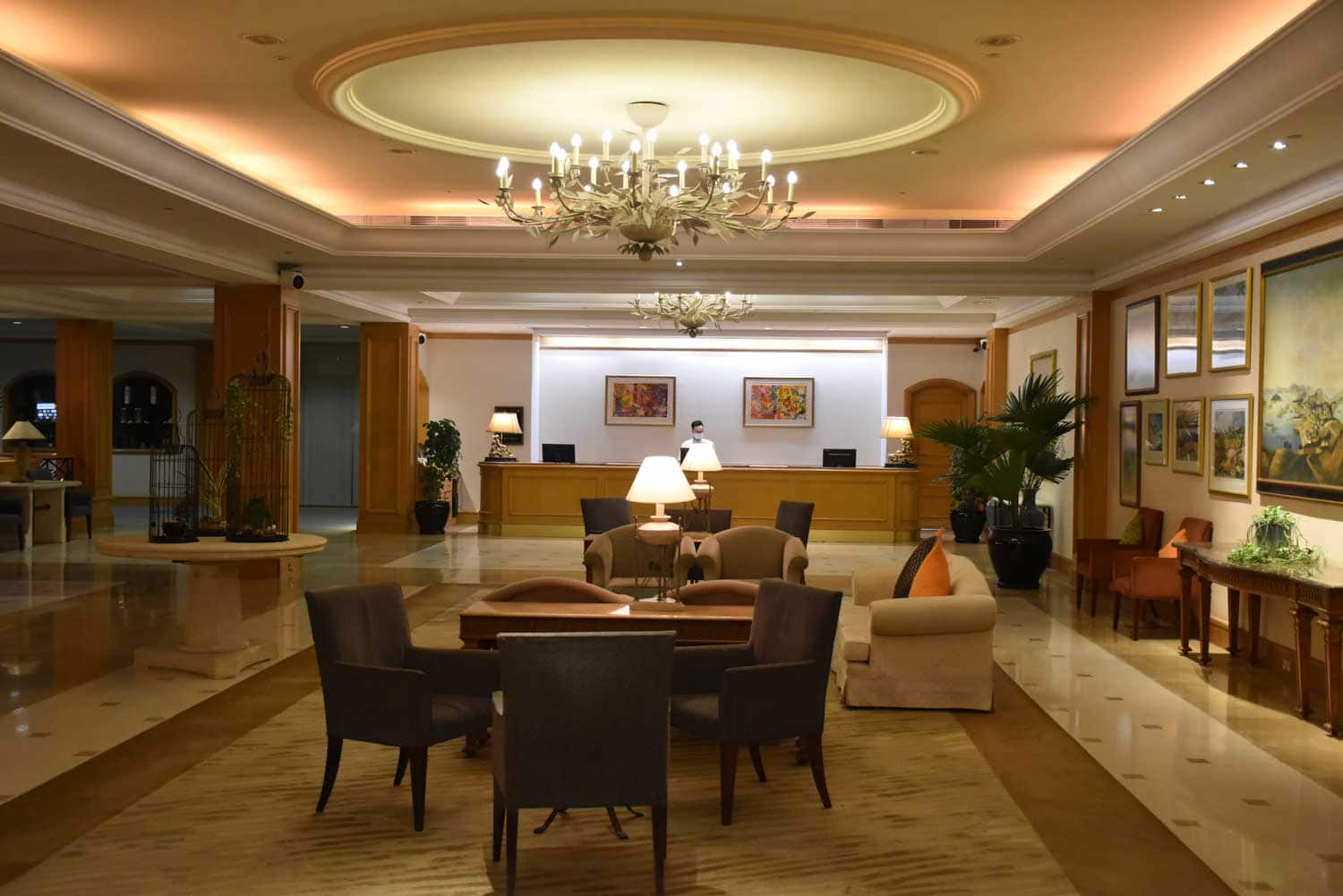 Grand Coloane Resort lobby and front desk